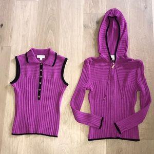 Like new St John Sport sweater set